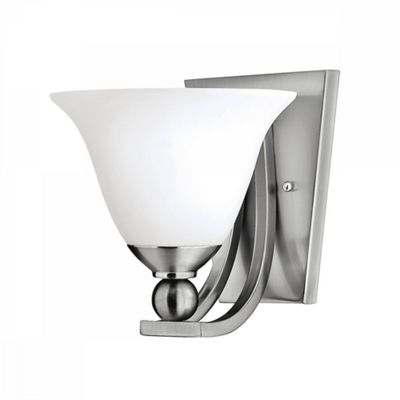 Brushed Nickel 1lt Wall Light - 1 x 60W E27