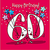 Happy Birthday, 60 Today Female Greetings Card