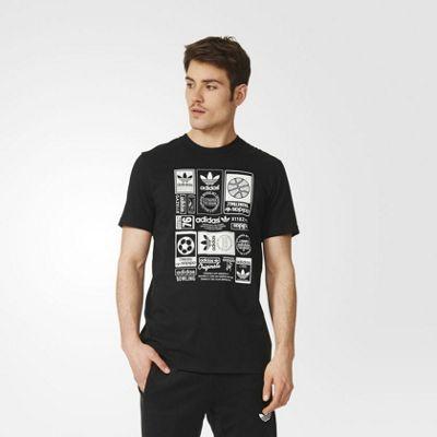 adidas Originals Mens Vintage Trefoil Crew Neck T-Shirt - XS