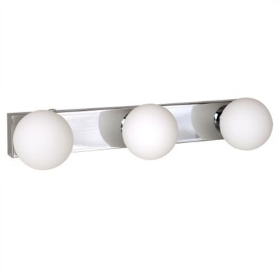 Ip44 bathroom wall light with frosted glass shades