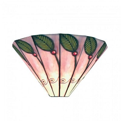 30cm Green Leaf Tiffany Wall light