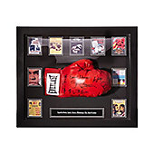 Framed Muhammed Ali glove signed by 7 opponents