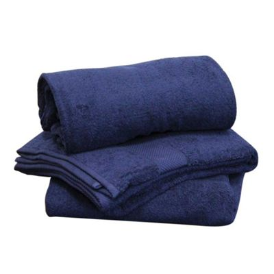 Homescapes Turkish Cotton Navy Blue Face Towel