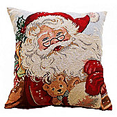 Father Xmas Tapestry Cushion Cover