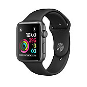 Apple Series 2 (38mm) Watch with Space Grey Aluminium Case and Black Sport Band