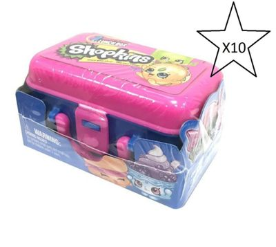 Shopkins 2 Pack In Lunchbox - 10 Packs Included