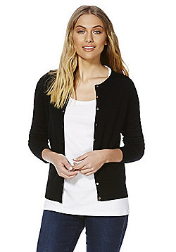F&F Stretch Cardigan with As New Technology - Black