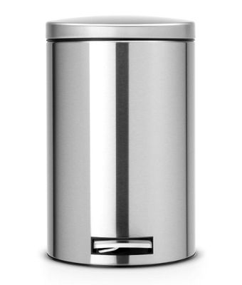 Brabantia Fingerprint Proof 12L Matt Steel Pedal Bin