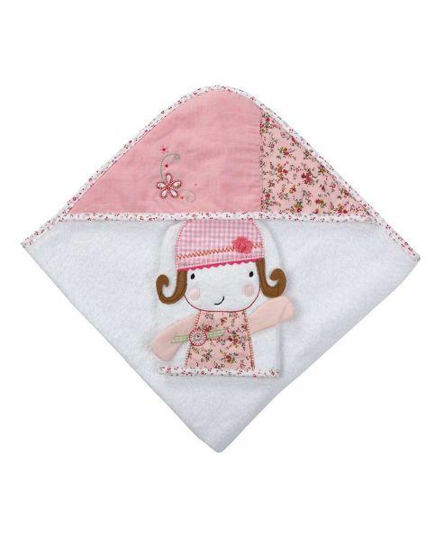 Mamas & Papas - Made with Love - Hooded Towel & Mitt, Girl