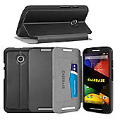 CaseBase Flip Folio Case for Motorola Moto E - Black