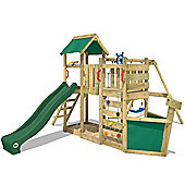 Wickey Oceanflyer Wooden Climbing Frame With Green Slide