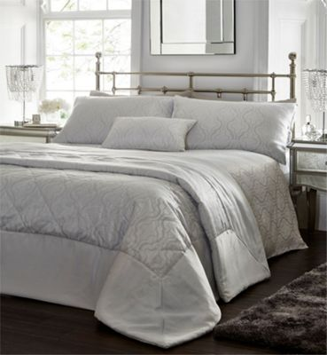 Drummond duvet cover and pillowcase set - Silver - Double