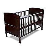 Penelope Cot Bed/Toddler Bed & Foam Safety Mattress - Walnut