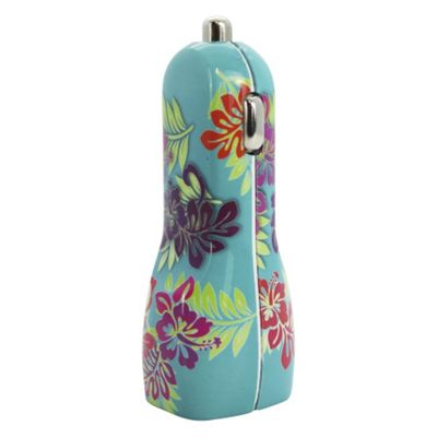 MITEC STYLE UNIVERSAL CAR CHARGER BLUE PATTERN