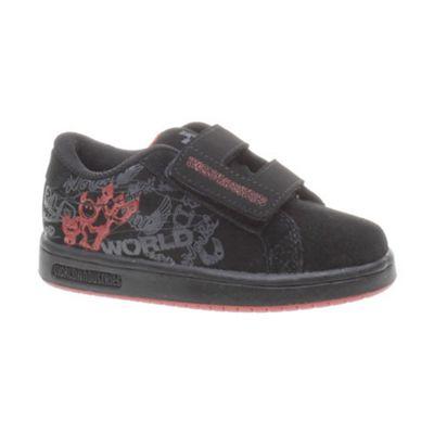 World Industries Smith JR Black/Red Kids Shoe