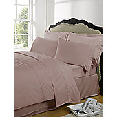 Dreamscene Highams 100% Egyptian Cotton Plain Dye Valance Sheet - Pink