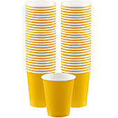 Yellow Coffee Cups - 340ml Paper Cups - 40 Pack