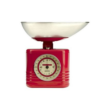 Typhoon Red Vintage Kitchen Scales