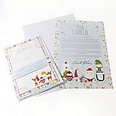 Personalised Christmas Letter Set