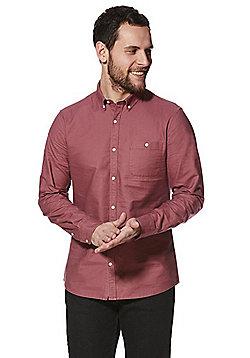 F&F Long Sleeve Oxford Shirt - Raspberry