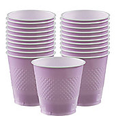 Lilac Cups - 355ml Plastic Party Cups - 20 Pack