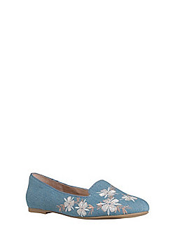 F&F Sensitive Sole Embroidered Albert Shoes - Blue
