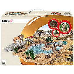 Schleich Wild Life Watering Hole Playset