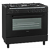 Servis SG900K 90cm Gas Range Cooker in Black | Large Single Gas Oven & Grill