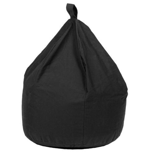Cotton Stripe Beanbag Black