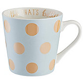 Gold Spot Pastel Blue Mug
