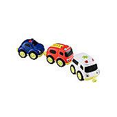 Whizz World Whizz World Emergency Vehicles Magnetic Trio Set