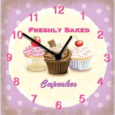 Original Signs - Freshly Baked Cupcakes Clock