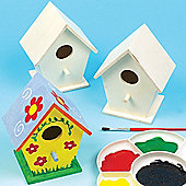 Mini Wooden Craft Birdhouses (Pack of 4)