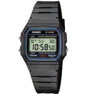 Casio Classic Unisex Rubber Chronograph Watch F-91W-1XY