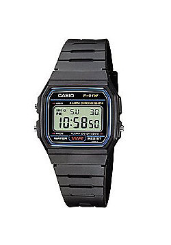 Casio Classic Unisex Rubber Chronograph Watch F-91W-1XY