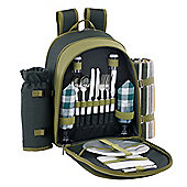 VonShef 2 Person Green Picnic Backpack