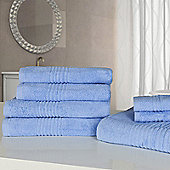 Highams Luxury Egyptian Cotton Towel Bale 7 Piece - Blue