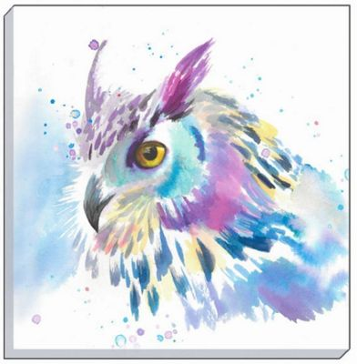 Watercolour Owl Canvas Art