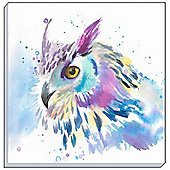 Watercolour Owl Canvas Art