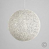 Bjorn 23cm Rattan Ball Ceiling Light Pendant Shade, White