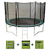 Up and About 12ft Air Pro Trampoline Package with Free Ladder, Weather Cover and Building Tool