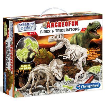 Archeofun T-rex and Triceratops Glow in the Dark