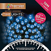 Premier 100 Multi Action Battery Operated Blue LED Lights