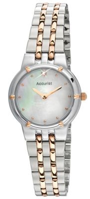 Accurist Ladies Rose Gold Ion-plated Stainless Steel MOP Dial Watch LB1743P