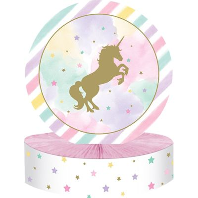 Unicorn Sparkle Honeycomb Table Centerpiece - 30cm