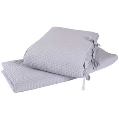 Clair de Lune 2pc Crib Bedding Set (Waffle Grey)