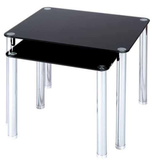 LEVV Lamp Table Set in Piano Black
