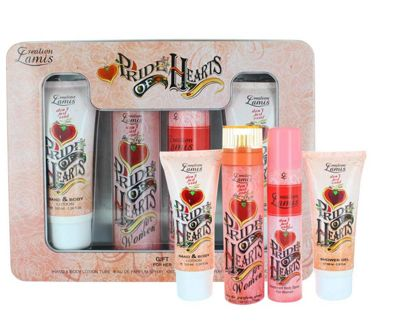 Pride Of Hearts By Creation Lamis Ladies Set With Body Lotion & Perfume 100ml