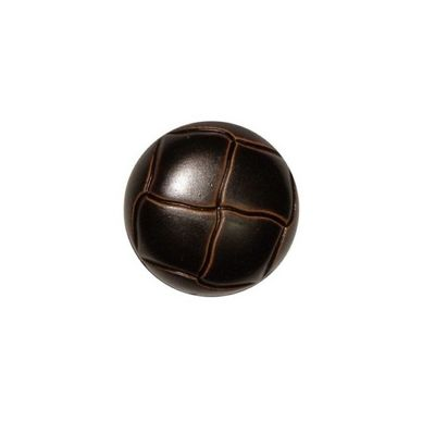 Hemline Brown Leather Buttons 15mm 3pk