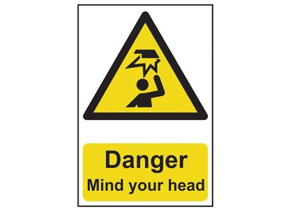 Scan Danger Mind Your Head - PVC 200 x 300mm